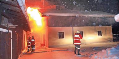 Feuer Brand in St. Martin bei Lofer