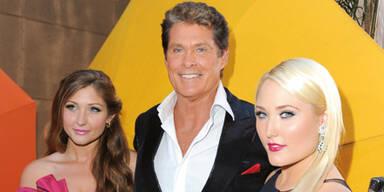 David Hasselhoff mit seinen Töchtern Taylor (l.) und Hayley