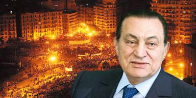 Hosni Mubara vor Tahrir Platz
