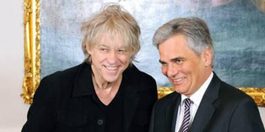 Bob Geldof & Werner Faymann