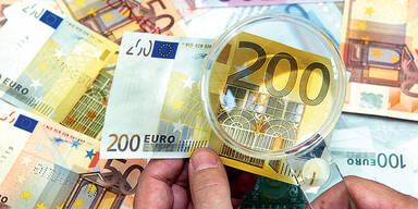 Falschgeld / Geldscheine / 200 Euro