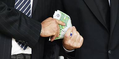 Korruption Bestechung Euro Bargeld
