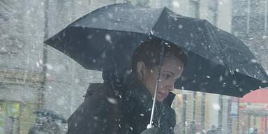 Wetter Regen Schneefall Winter