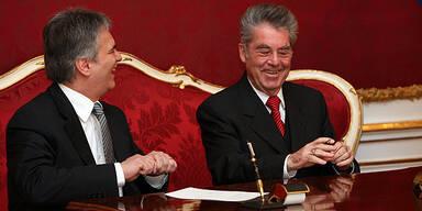 Heinz Fischer / Werner Faymann / Angelobung