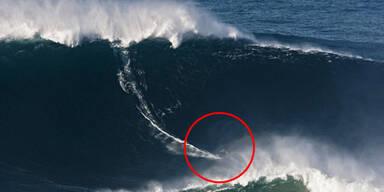 mcNamara Surfer Weltrekord-Welle