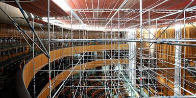 Parlament Umbau Baugerüst