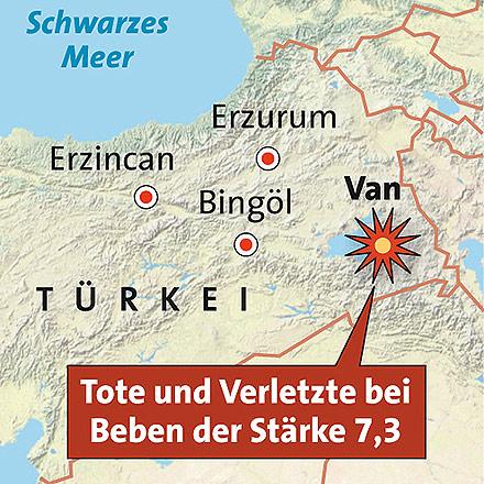 Erdbeben in Türkei