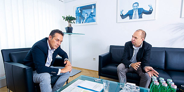 HC Strache  / Schröder / Interview