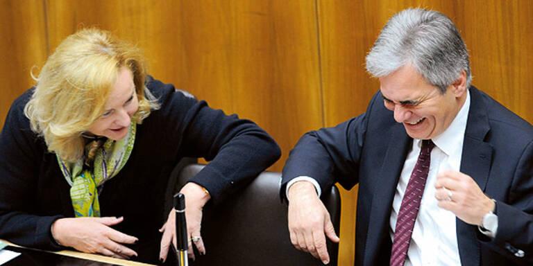 """Faymann: """"Sie wollen aus dem Euro raus"""""""