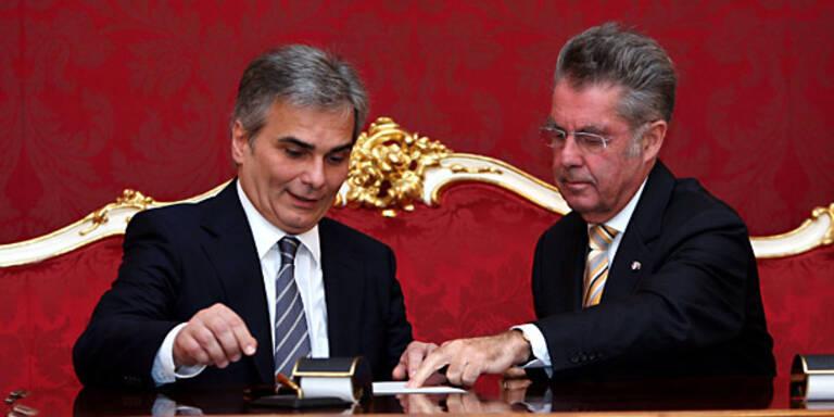 Präsident Fischer stoppt das Sparpaket