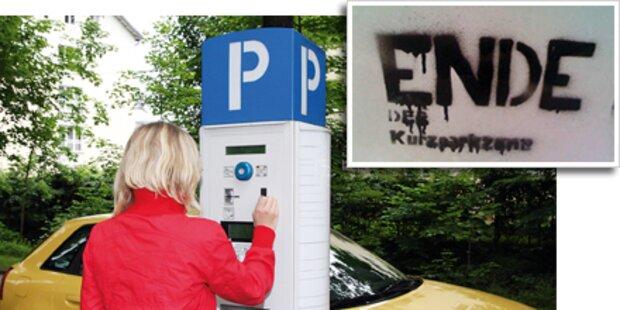 Vandalen sprengen 13 Parkscheinautomaten