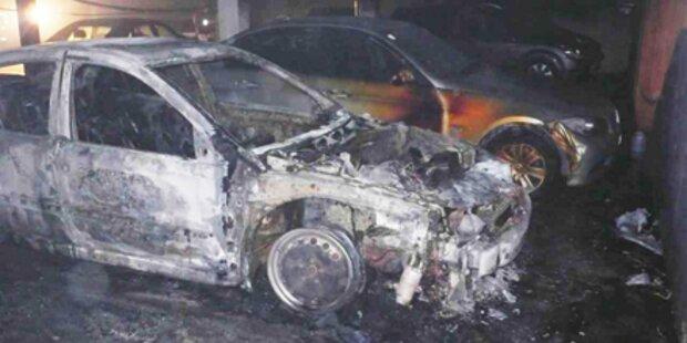 30 Autos in Tiefgarage in Flammen
