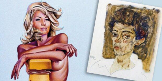 'Pin-ups', Dämonen und Schiele-Porträts