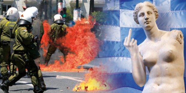 Ausschreitungen: Griechen frotzeln die EU