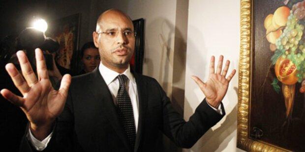 Gaddafis Sohn: Waffen in Wien