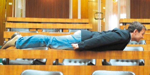 Grosz: Planking im Parlament