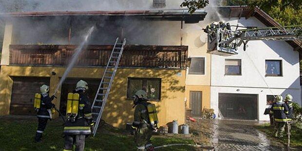 Schwerer Brand in Einfamilienhaus