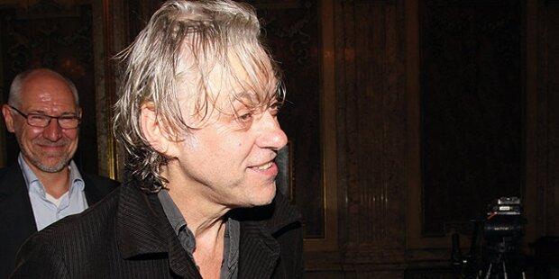 Geldof: Geschenke und ein Rotwein-Fleck