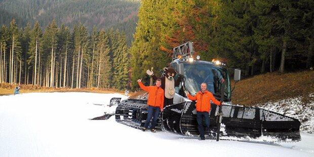 Heute eröffnen 5 Ski-Gebiete ...