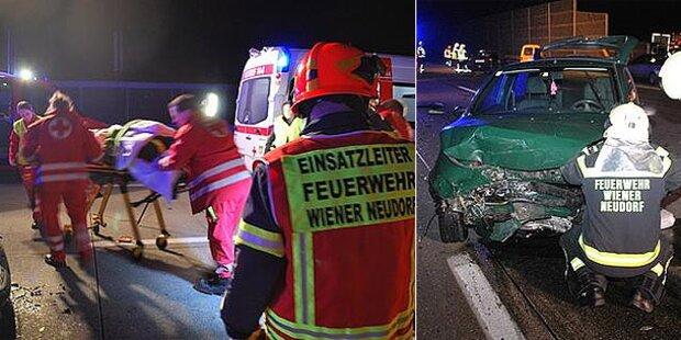 10 Verletzte bei Massen-Crash auf A2