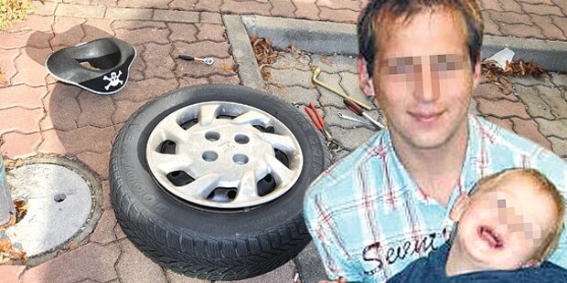 Papas Auto fällt auf 4-jährigen Bub