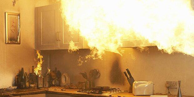 Kurze Unachtsamkeit: Flammeninferno in Wiener City