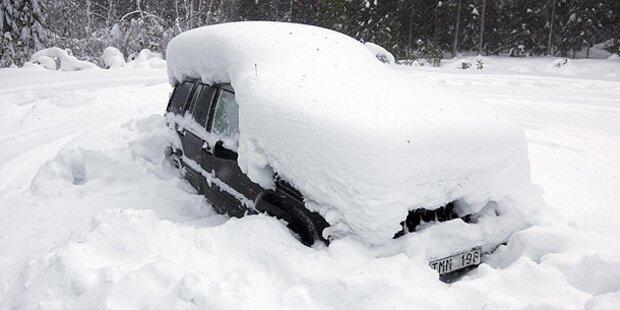 Schwede will zurück ins Schnee-Auto