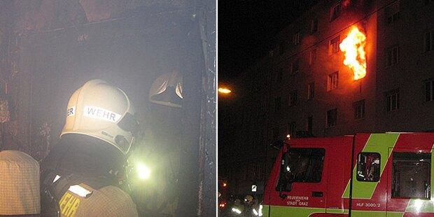 4 Verletzte bei Wohnhaus-Brand in Graz