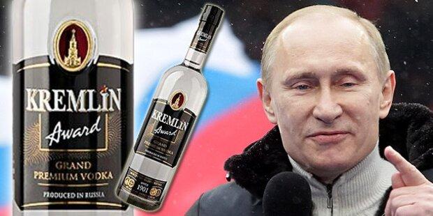 Russen mit neuem Staatswodka