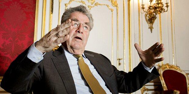 Fischer stellt sich bei Heer gegen SPÖ