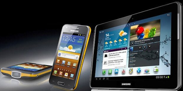 Beamer-Handy und Galaxy Tab 2 10.1