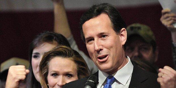 Rick Santorum gewinnt Vorwahlen in Kansas
