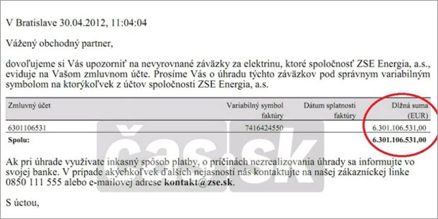 Slowakin soll 6 Mrd. Euro für Strom zahlen