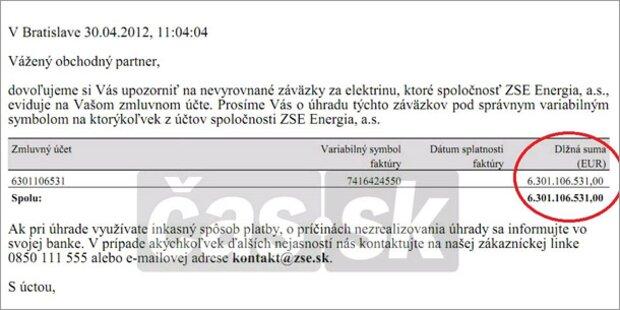 slowakin soll 6 mrd euro f r strom zahlen. Black Bedroom Furniture Sets. Home Design Ideas