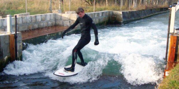 Surfen in Salzburg mitten im November