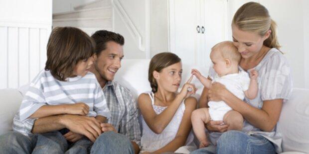 Weniger sparen bei Familien