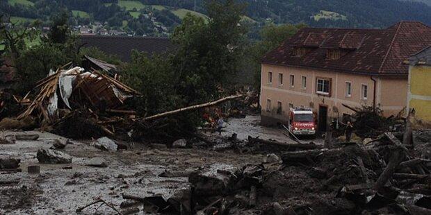 Mure verwüstet St. Lorenzen im Paltental