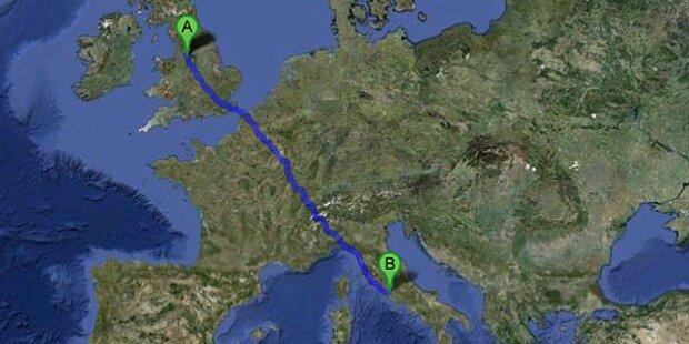 Liam (11) flog allein durch Europa