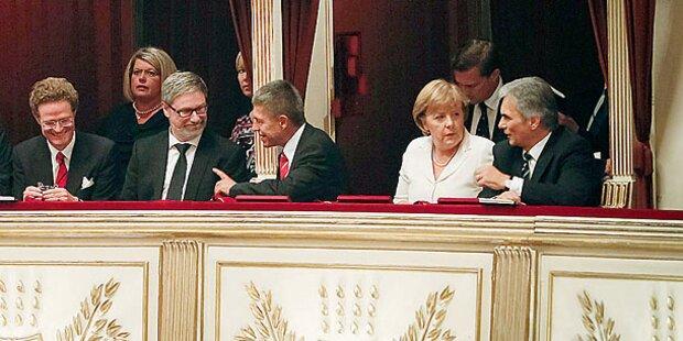 Euro-Gipfel mit Oper und Sachertorte