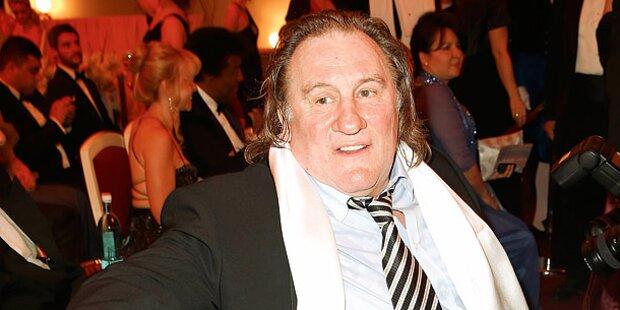 Depardieu als Stargast bei Gaston Glock