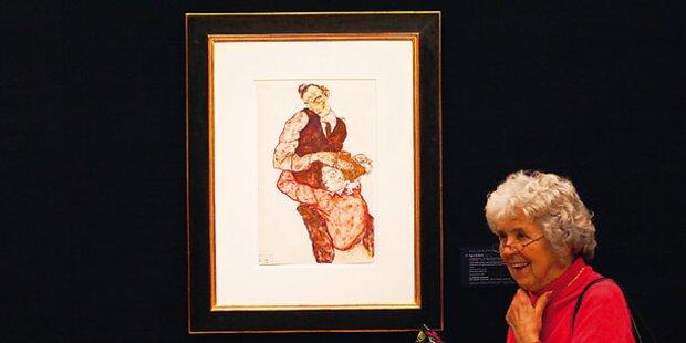 Rekordpreis für Schiele -Kunstwerke