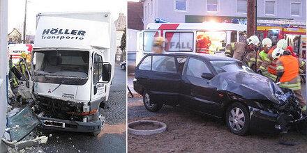 LKW-Crash fordert Schwerverletzten