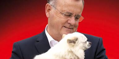 Niessl startet Wahlkampf mit Hund
