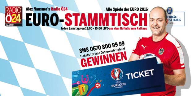 Tisch reservieren und EURO Tickets gewinnen!