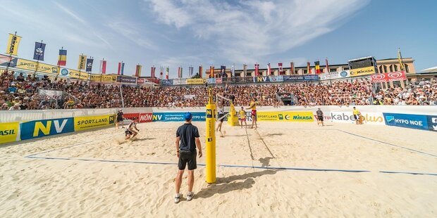 Volle Action: Beachvolleyball-Spektakel in Baden