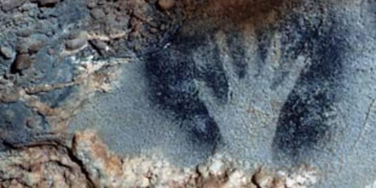 Steinzeitliche Abbildung einer Hand