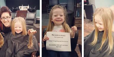 3-Jährige spendet ihre Haare