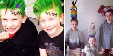 """So kreativ feiern die Amis den """"Crazy Hair Day!"""