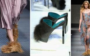 Puschel-Schuhe bei Gucci und Co. : Werden haarige Füße DER neue Trend?