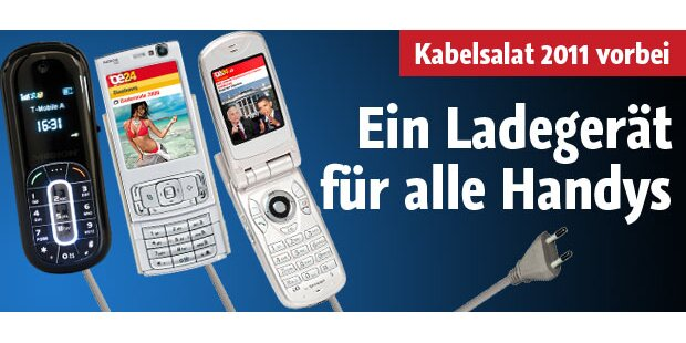 Ab 2011 ein Ladegerät für alle Handys